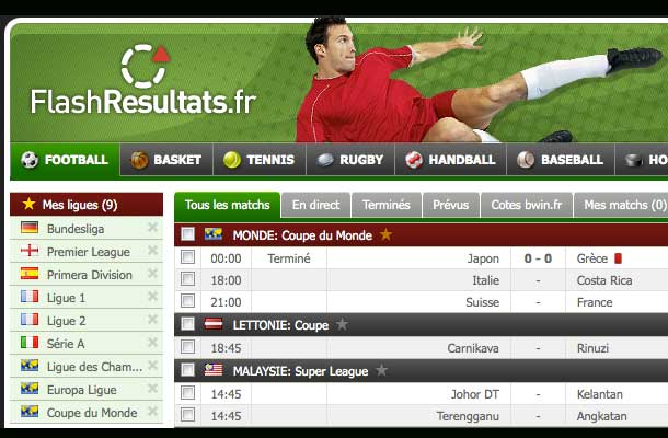 tennis flash résultats